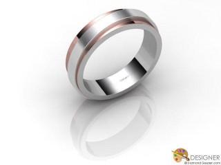 Men's Designer 18ct. White and Rose Gold Court Wedding Ring-D10480-2401-000G
