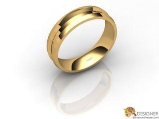 Men's Designer 18ct. Yellow Gold Court Wedding Ring-D10481-1801-000G