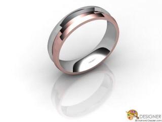 Men's Designer 18ct. White and Rose Gold Court Wedding Ring-D10481-2401-000G