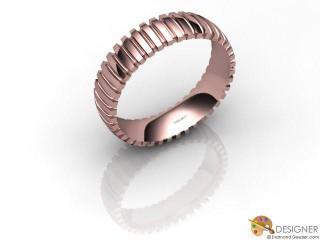 Men's Designer 18ct. Rose Gold Court Wedding Ring-D10525-0401-000G