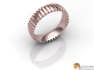 Men's Designer 18ct. Rose Gold Court Wedding Ring-D10525-0403-000G
