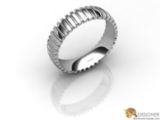 Men's Designer 18ct. White Gold Court Wedding Ring-D10525-0501-000G