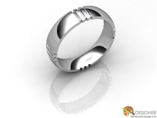 Men's Designer Platinum Court Wedding Ring-D10526-0101-000G