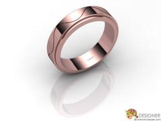 Men's Designer 18ct. Rose Gold Court Wedding Ring-D10536-0401-000G