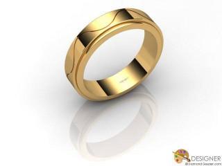 Men's Designer 18ct. Yellow Gold Court Wedding Ring-D10536-1801-000G