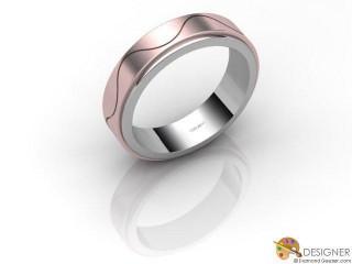 Men's Designer 18ct. White and Rose Gold Court Wedding Ring-D10536-2403-000G