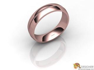 Men's Designer 18ct. Rose Gold Court Wedding Ring-D10597-0401-000G