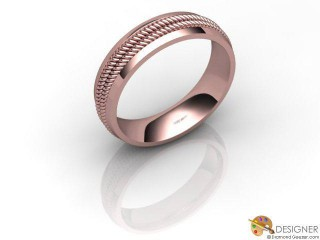 Men's Designer 18ct. Rose Gold Court Wedding Ring-D10622-0401-000G