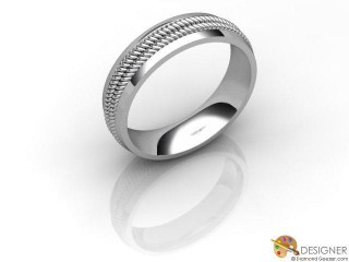 Men's Designer 18ct. White Gold Court Wedding Ring-D10622-0501-000G