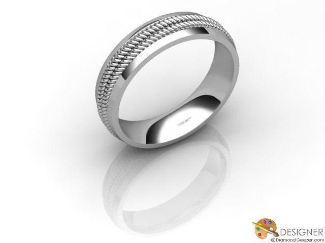 Women's Designer 18ct. White Gold Court Wedding Ring