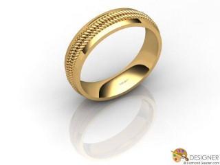 Men's Designer 18ct. Yellow Gold Court Wedding Ring-D10622-1801-000G