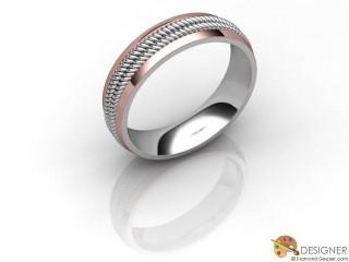 Men's Designer 18ct. White and Rose Gold Court Wedding Ring-D10622-2401-000G