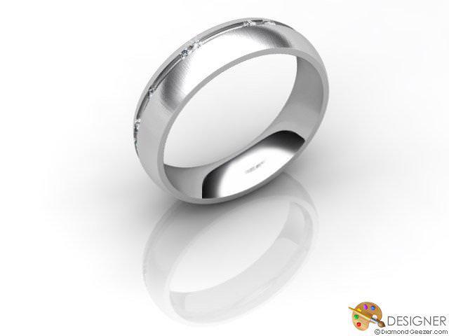 Women's Diamond Platinum Court Wedding Ring