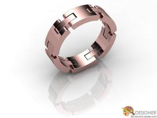 Men's Designer 18ct. Rose Gold Court Wedding Ring-D10663-0401-000G