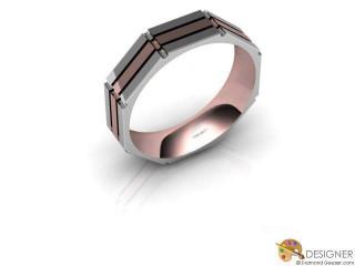Men's Designer 18ct. White and Rose Gold Court Wedding Ring-D10666-2401-000G