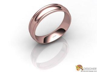 Men's Designer 18ct. Rose Gold Court Wedding Ring-D10673-0401-000G
