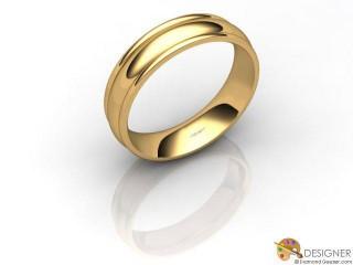 Men's Designer 18ct. Yellow Gold Court Wedding Ring-D10673-1801-000G