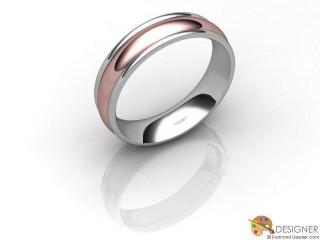 Men's Designer 18ct. White and Rose Gold Court Wedding Ring-D10673-2401-000G