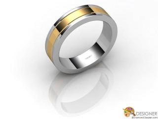 Men's Designer 18ct. Yellow and White Gold Flat-Court Wedding Ring-D10676-2801-000G