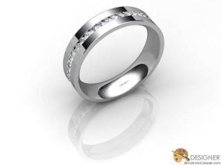 Men's Diamond Platinum Court Wedding Ring-D10697-0101-030G