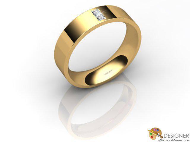 Men's Diamond 18ct. Yellow Gold Flat-Court Wedding Ring