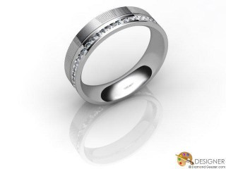 Men's Diamond Platinum Court Wedding Ring-D10709-0101-030G