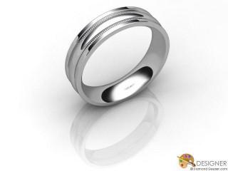 Men's Designer Platinum Court Wedding Ring-D10733-0101-000G