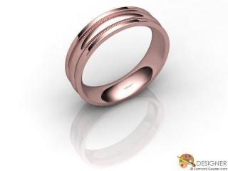 Men's Designer 18ct. Rose Gold Court Wedding Ring-D10733-0401-000G