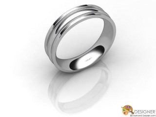 Men's Designer 18ct. White Gold Court Wedding Ring-D10733-0501-000G