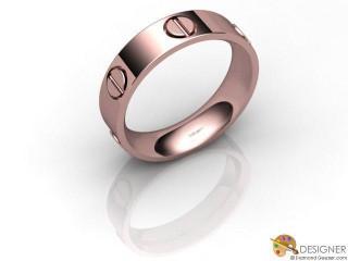 Men's Designer 18ct. Rose Gold Court Wedding Ring-D10751-0401-000G