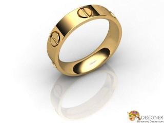 Men's Designer 18ct. Yellow Gold Court Wedding Ring-D10751-1801-000G