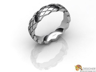 Men's Designer Platinum Court Wedding Ring-D10803-0101-000G