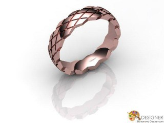 Men's Designer 18ct. Rose Gold Court Wedding Ring-D10803-0401-000G