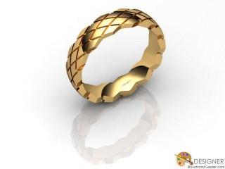 Men's Designer 18ct. Yellow Gold Court Wedding Ring-D10803-1801-000G