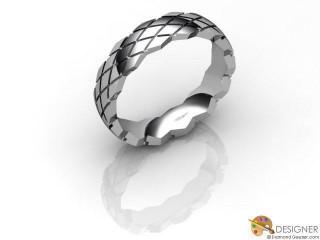 Men's Designer Palladium Court Wedding Ring-D10803-6601-000G