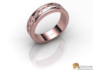 Men's Designer 18ct. Rose Gold Court Wedding Ring-D10816-0401-000G