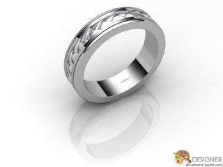 Men's Designer 18ct. White Gold Court Wedding Ring-D10816-0501-000G