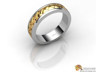 Men's Designer 18ct. Yellow and White Gold Court Wedding Ring-D10818-2801-000G