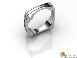 Men's Designer Platinum Court Wedding Ring-D10824-0101-000G