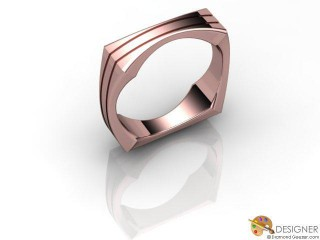 Men's Designer 18ct. Rose Gold Court Wedding Ring-D10824-0401-000G