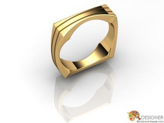 Men's Designer 18ct. Yellow Gold Court Wedding Ring-D10824-1801-000G