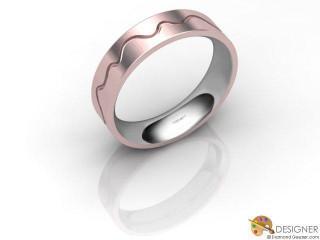 Men's Designer 18ct. White and Rose Gold Court Wedding Ring-D10831-2403-000G