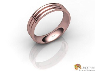 Men's Designer 18ct. Rose Gold Court Wedding Ring-D10832-0401-000G