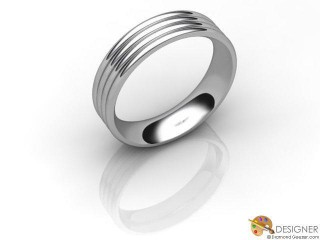 Men's Designer Platinum Court Wedding Ring-D10839-0101-000G