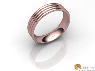 Men's Designer 18ct. Rose Gold Court Wedding Ring-D10839-0401-000G
