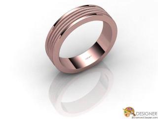 Men's Designer 18ct. Rose Gold Court Wedding Ring-D10840-0401-000G
