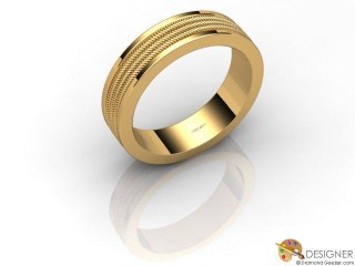 Men's Designer 18ct. Yellow Gold Court Wedding Ring-D10840-1801-000G