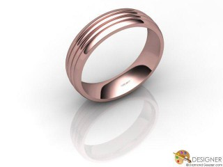 Men's Designer 18ct. Rose Gold Court Wedding Ring-D10843-0401-000G