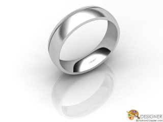 Men's Designer 18ct. White Gold Court Wedding Ring-D10855-0503-000G