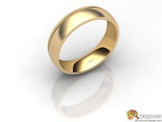 Men's Designer 18ct. Yellow Gold Court Wedding Ring-D10855-1803-000G